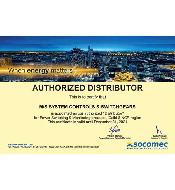 socomec certificate